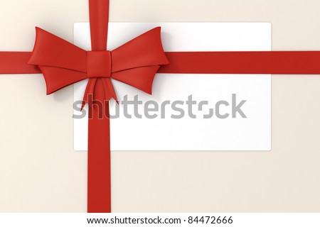 3d red ribbon, decorations