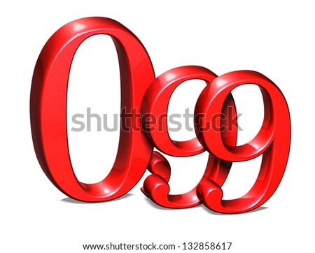 3D Red Special Price on white background