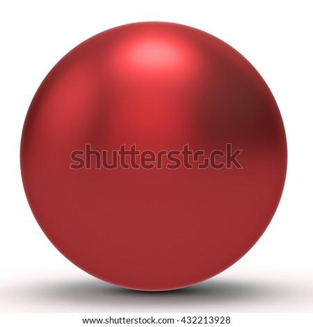3d red  sphere on white background 3D illustration - stock photo