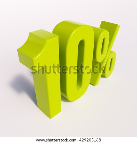 3d render:10% - stock photo