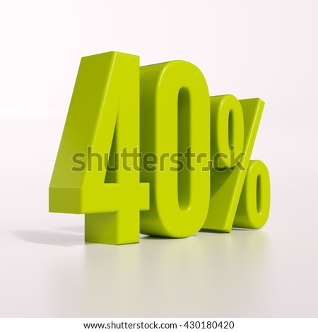 3d render 40% - stock photo