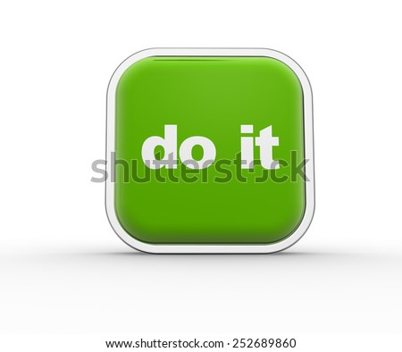 3d render button and text Do it - stock photo