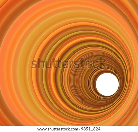 3d render concentric pipes in multiple orange colors - stock photo