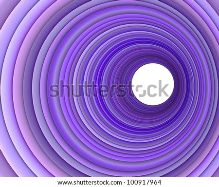 3d render concentric pipes in multiple purple color - stock photo