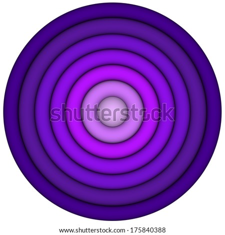 3d render concentric pipes in multiple purple magenta  - stock photo