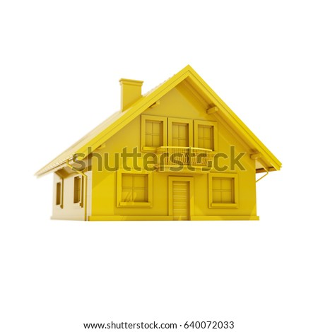 3d render: 3d House Icon