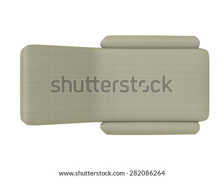 3d render day bed top view - stock photo