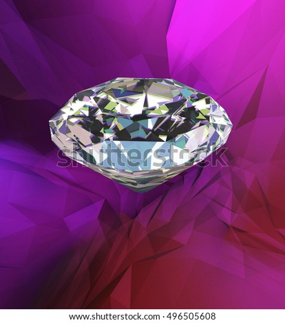 3d render diamond