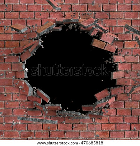 Broken Wall Stock Images, Royalty-Free Images & Vectors ...