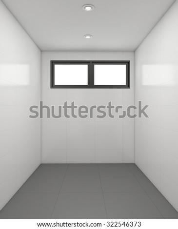 3D render empty room interior