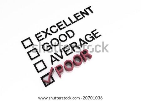 3d Render Evaluation Form - stock photo
