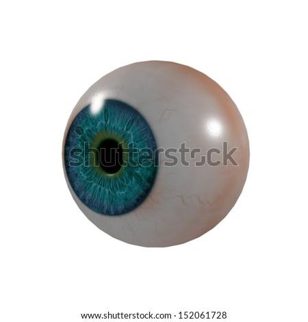 3d render Eye Ball - side view - stock photo