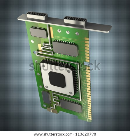 3d render graphic card GPU High resolution - stock photo