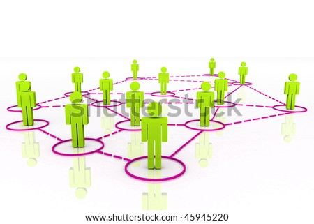 3D Render Human Connections - stock photo