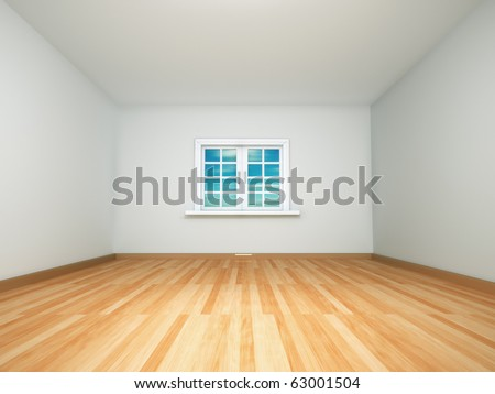 3d render image of an empty room - stock photo