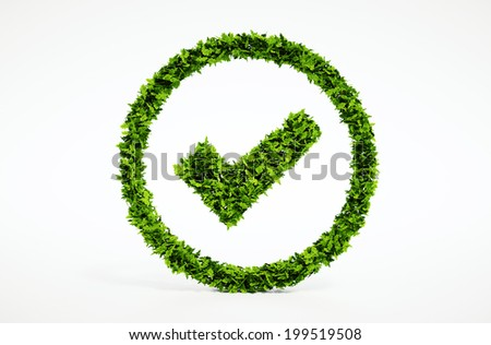 3d render image of eco ok sign - stock photo