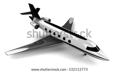 3D render image representing an private jet / Private jet