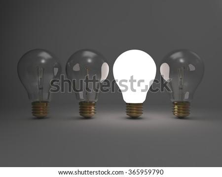 3D render image representing Bright Idea concept / Bright Idea - stock photo