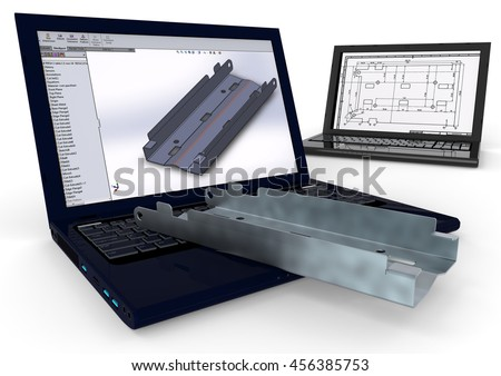 3D render image representing computer aided design / Computer Aided Design