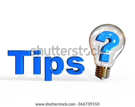 3D render image representing Tips sign / tips - stock photo