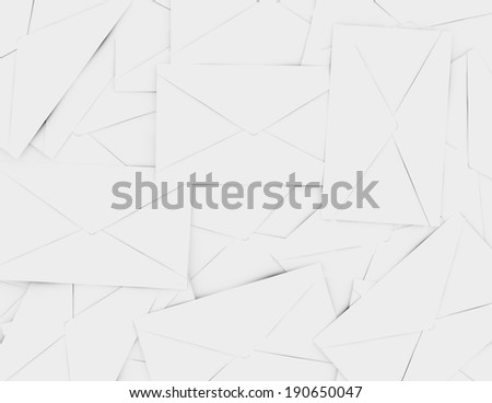 3d Render of a Background of Envelopes