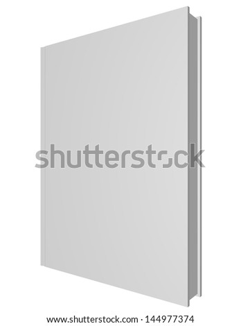 3d Render of a Blank Book