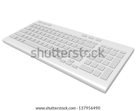 3d Render of a Blank Keyboard