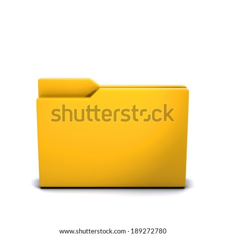 3d render of a closed empty folder