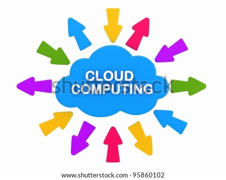 3D render of a cloud - stock photo