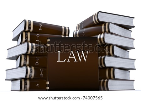 3d render of a collection of low books