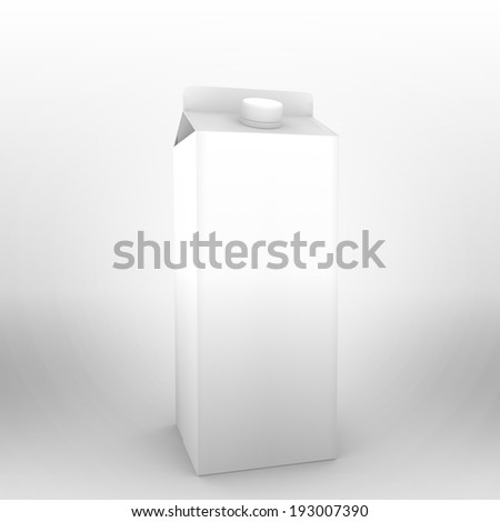 3d render of a drink pack for use as a template.