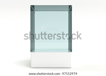 3d render of a empty display case - stock photo