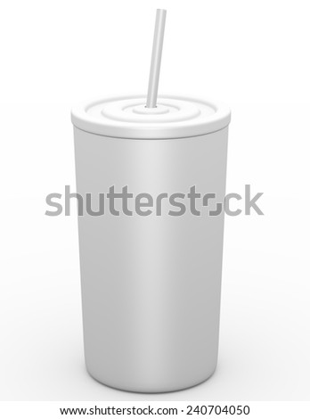 3d Render of a Fast Food Drink Cup - stock photo