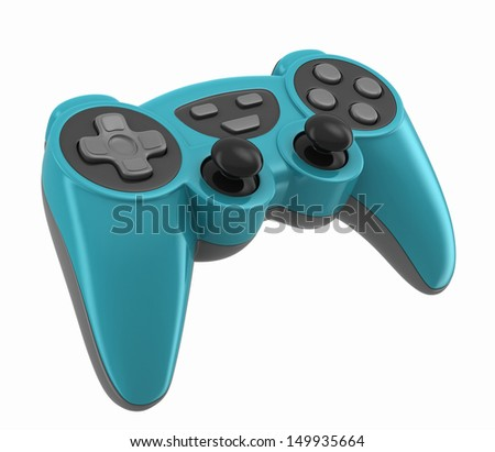 3d render of a gamepad for videogames - stock photo