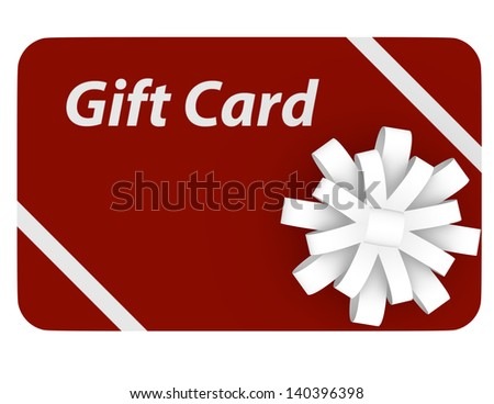 3d Render of a Gift Card