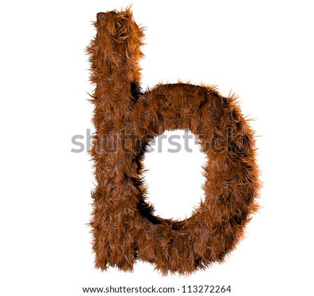 3d render of a hairy b - stock photo