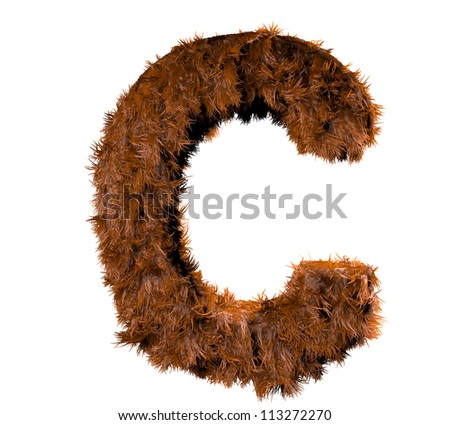 3d render of a hairy c - stock photo