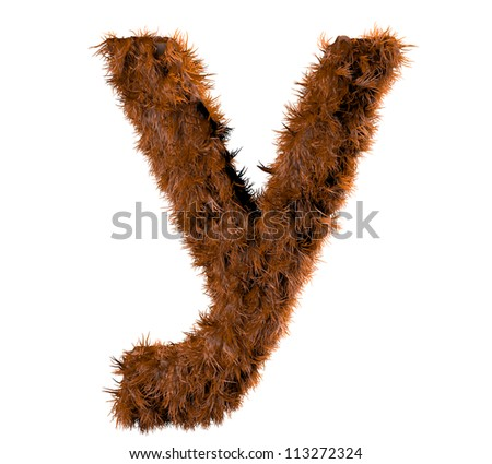 3d render of a hairy y - stock photo