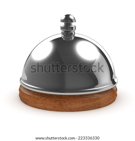 3d render of a hotel reception bell - stock photo
