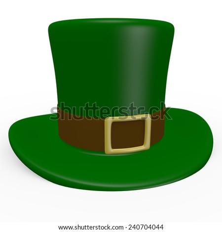 3d Render of a Leprechaun Hat - stock photo