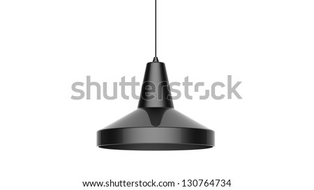 3d render of a modern Cool Pendant isolated on white - stock photo
