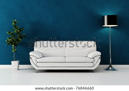 3d render of a modern interior design - stock photo
