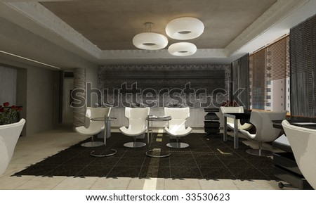 3d render of a modern interior.exclusive design