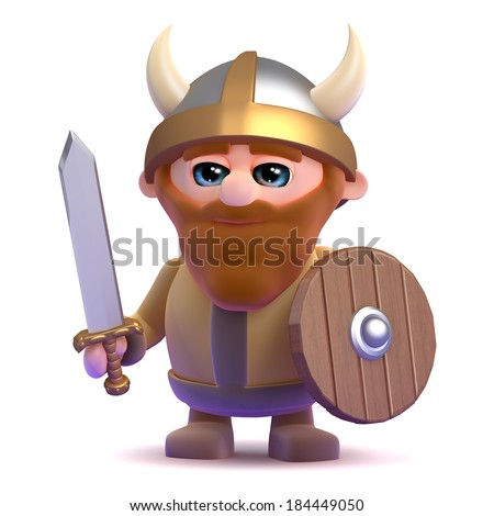 3d render of a noble viking - stock photo