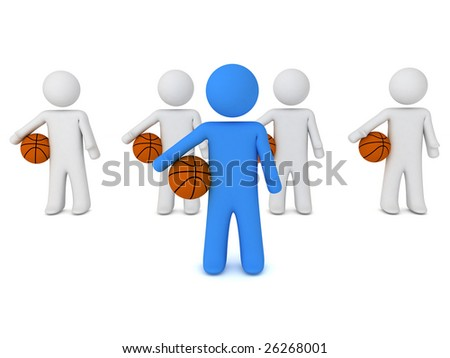 3d render of a people with ball