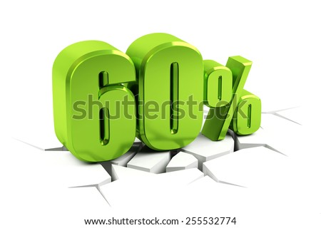3d render of a 60 percent - stock photo