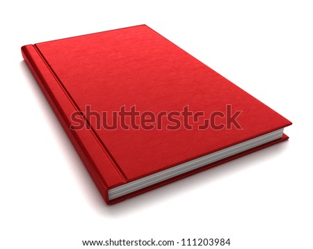 3d render of a red book
