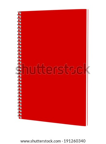 3d Render of a Red Spiral Notebook