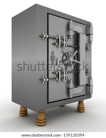 3D Render of a Safe