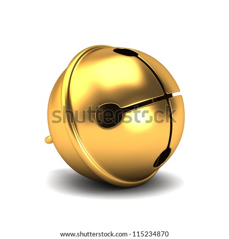 3d render of a shiny sleigh bells - stock photo